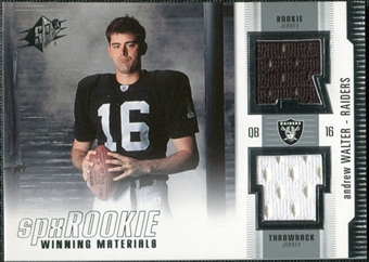 2005 Upper Deck SPx Rookie Winning Materials #RWMAW Andrew Walter
