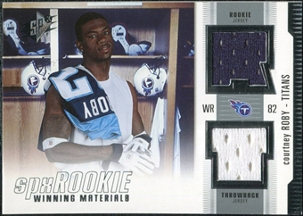 2005 Upper Deck SPx Rookie Winning Materials #RWMCR Courtney Roby