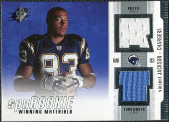 2005 Upper Deck SPx Rookie Winning Materials #RWMVJ Vincent Jackson
