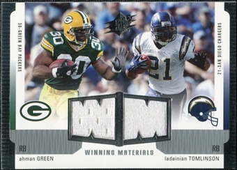 2005 Upper Deck SPx Winning Materials #AL Ahman Green/LaDainian Tomlinson