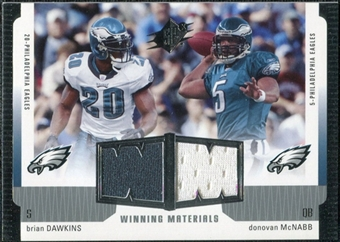 2005 Upper Deck SPx Winning Materials #DM Brian Dawkins/Donovan McNabb