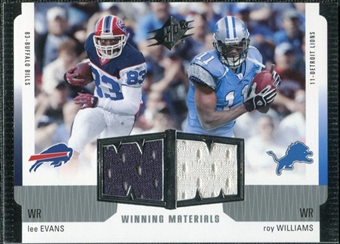 2005 Upper Deck SPx Winning Materials #EW Lee Evans/Roy Williams WR
