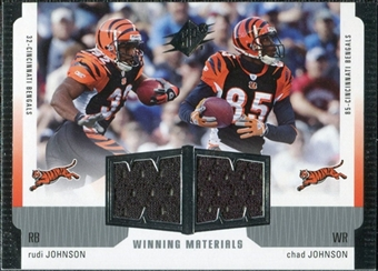 2005 Upper Deck SPx Winning Materials #JJ Rudi Johnson/Chad Johnson