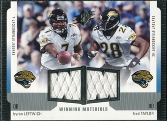 2005 Upper Deck SPx Winning Materials #LT Byron Leftwich/Fred Taylor