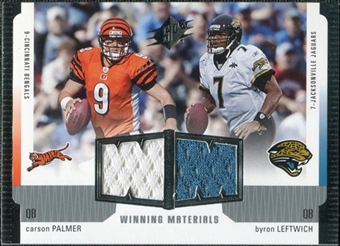 2005 Upper Deck SPx Winning Materials #PL Carson Palmer/Byron Leftwich