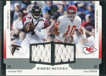 2005 Upper Deck SPx Winning Materials #VG Michael Vick/Trent Green
