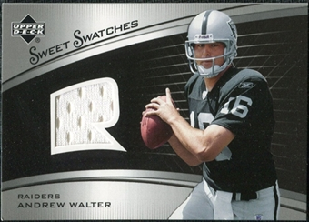 2005 Upper Deck Sweet Spot Rookie Sweet Swatches #SRAW Andrew Walter
