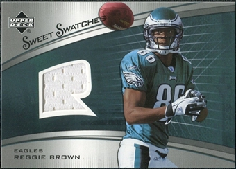 2005 Upper Deck Sweet Spot Rookie Sweet Swatches #SRRE Reggie Brown