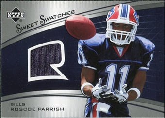 2005 Upper Deck Sweet Spot Rookie Sweet Swatches #SRRP Roscoe Parrish