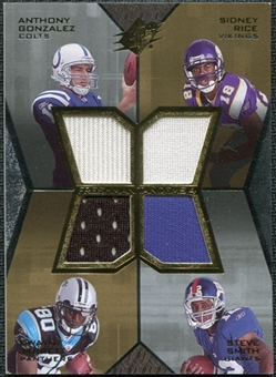 2007 Upper Deck SPx Freshman Tandems Quad Jersey #GRJS Anthony Gonzalez Sidney Rice Dwayne Jarrett Steve Smith