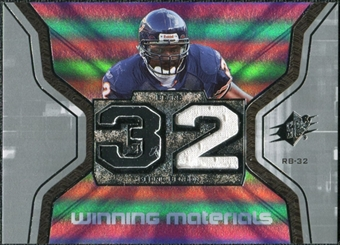 2007 Upper Deck SPx Winning Materials Jersey Number #WMBE Cedric Benson