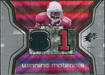 2007 Upper Deck SPx Winning Materials Jersey Number #WMBO Anquan Boldin