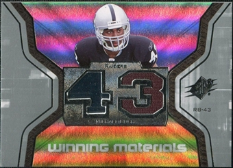 2007 Upper Deck SPx Winning Materials Jersey Number #WMBU Michael Bush