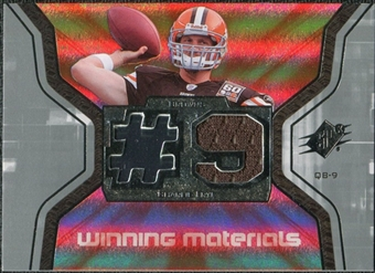 2007 Upper Deck SPx Winning Materials Jersey Number #WMCF Charlie Frye