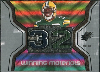 2007 Upper Deck SPx Winning Materials Jersey Number #WMAN Brandon Jackson