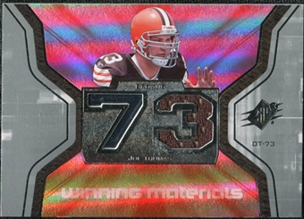 2007 Upper Deck SPx Winning Materials Jersey Number #WMJT Joe Thomas
