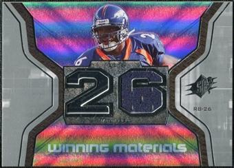 2007 Upper Deck SPx Winning Materials Jersey Number #WMTB Tatum Bell