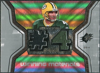 2007 Upper Deck SPx Winning Materials Jersey Number #WMBF1 Brett Favre