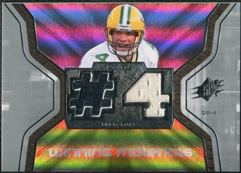 2007 Upper Deck SPx Winning Materials Jersey Number #WMBF2 Brett Favre