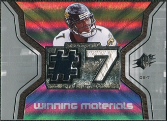 2007 Upper Deck SPx Winning Materials Jersey Number #WMBL1 Byron Leftwich