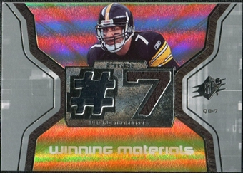 2007 Upper Deck SPx Winning Materials Jersey Number #WMBR1 Ben Roethlisberger