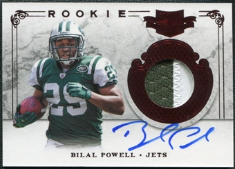 2011 Panini Plates and Patches #234 Bilal Powell RC Patch Autograph 140/499
