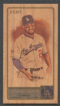 2011 Topps Allen and Ginter #310 Matt Kemp Mini Wood #1/1