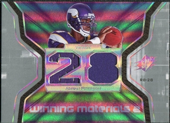 2007 Upper Deck SPx Winning Materials Jersey Number Dual #WMAP Adrian Peterson