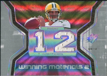 2007 Upper Deck SPx Winning Materials Jersey Number Dual #WMAR Aaron Rodgers