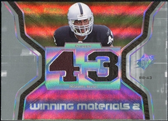2007 Upper Deck SPx Winning Materials Jersey Number Dual #WMBU Michael Bush