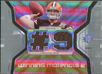 2007 Upper Deck SPx Winning Materials Jersey Number Dual #WMCF Charlie Frye