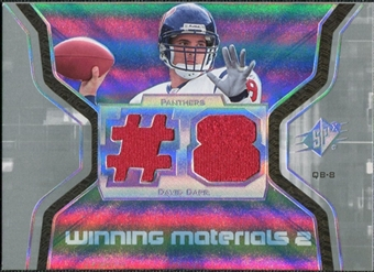 2007 Upper Deck SPx Winning Materials Jersey Number Dual #WMDC David Carr