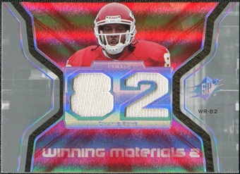 2007 Upper Deck SPx Winning Materials Jersey Number Dual #WMDW Dwayne Bowe