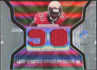 2007 Upper Deck SPx Winning Materials Jersey Number Dual #WMGA Gaines Adams
