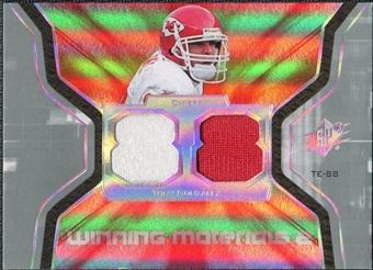 2007 Upper Deck SPx Winning Materials Jersey Number Dual #WMGO Tony Gonzalez
