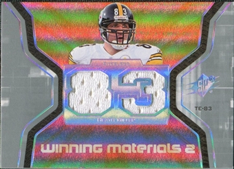 2007 Upper Deck SPx Winning Materials Jersey Number Dual #WMHM Heath Miller