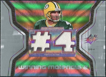 2007 Upper Deck SPx Winning Materials Jersey Number Dual #WMBF1 Brett Favre
