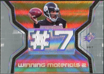 2007 Upper Deck SPx Winning Materials Jersey Number Dual #WMBR2 Ben Roethlisberger