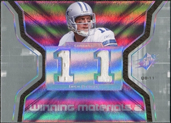 2007 Upper Deck SPx Winning Materials Jersey Number Dual #WMDR1 Drew Bledsoe