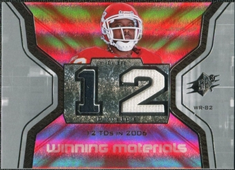 2007 Upper Deck SPx Winning Materials Stat #WMSDW Dwayne Bowe