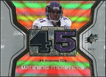 2007 Upper Deck SPx Winning Materials Stat #WMSJL Jamal Lewis