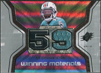 2007 Upper Deck SPx Winning Materials Stat #WMSTG Ted Ginn Jr.