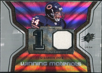 2007 Upper Deck SPx Winning Materials Stat #WMSUR Brian Urlacher