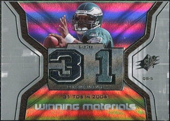 2007 Upper Deck SPx Winning Materials Stat #WMSD02 Donovan McNabb
