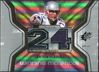2007 Upper Deck SPx Winning Materials Stat #WMSTO2 Tom Brady