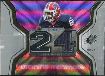 2007 Upper Deck SPx Winning Materials Stat #WMSWM1 Willis McGahee