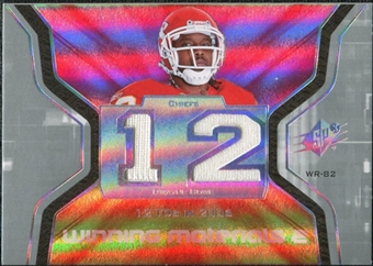 2007 Upper Deck SPx Winning Materials Stat Dual #WMSDW Dwayne Bowe