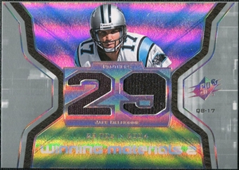 2007 Upper Deck SPx Winning Materials Stat Dual #WMSJD Jake Delhomme