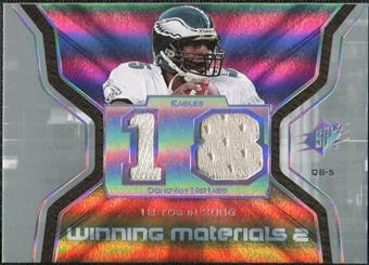 2007 Upper Deck SPx Winning Materials Stat Dual #WMSDO1 Donovan McNabb