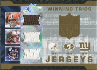 2007 Upper Deck SPx Winning Trios Jerseys #FSM Charlie Frye Alex Smith Eli Manning